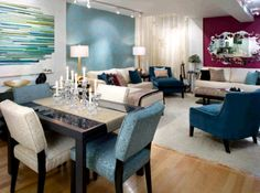 Love her designs...Candice Olson Designs - Living Room.  #InteriorDesign #MyStyleLaVie