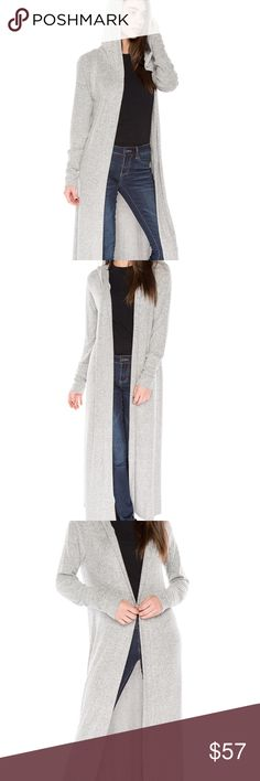 HEATHER GRAY HOODED DUSTER CARDIGAN BEAUTIFUL KNIT HOODED DUSTER CARDIGAN. THIS IS THE MST HAVE FOR YOU LATE SUMMER TO WINTER WARDROBE. I OPEN AND INSPECT EVERY ITEM FOR QUALITY INSURANCE.  MEASUREMENTS TO FOLLOW UPON ARRIVAL. THE DORM BOUTIQUE Sweaters Cardigans