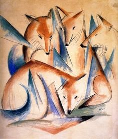 Foxes  (also known as Four Foxes) Franz Marc - 1913