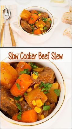 There's nothing better than coming home to Slow Cooker Beef Stew after being gone all day. A quick salad and some crusty french bread and dinner is served! Slow Cooker Beef, Slow Cooker Recipes, Crockpot Recipes, Cooking Recipes, Chili Recipes, Great Recipes, Dinner Recipes, Favorite Recipes, Easy Recipes