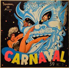 Carnaval - We don't know much about this LP, except that it was issued in Brazil, it came out in 1959, and it has a really cool cover. #records #vinyl #albums #LP