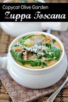 #copycat Zuppa Toscana like you get at Olive Garden!