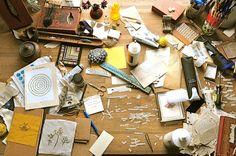 love messy studio desks