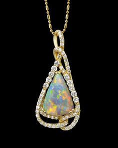 34 best opal jewelry images on pinterest opal jewelry australian parle jewelry designs australian opal and diamond pendant the unusual twist and turns around the gorgeous gem explains why it became an award winning aloadofball Images