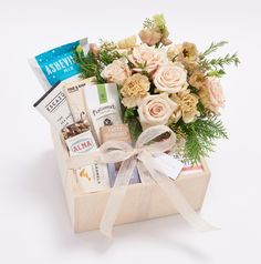 Valleybrink Road | Shop | Local Large Sweet Box Creative Gift Wrapping, Creative Gifts, Gift Hampers, Gift Baskets, Wedding Gift Boxes, Wedding Gifts, Silent Auction Baskets, Flower Box Gift, Gift Box Design