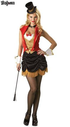 adult three ring hottie ringmaster costume deluxe costumes womens costumes halloween costumes party city i like this skirt