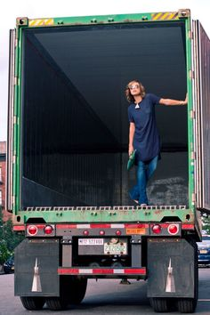 |WEARING| Rebecca Taylor silk tee dress, 7 For All Mankind jeans, Schutz shoes - www.theglamourai.com - Truckin2