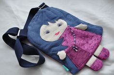 Lovely dollypurse for girls. by NinuMiluBagDolls on Etsy,