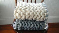 Baby blankets in chunky merino yarn