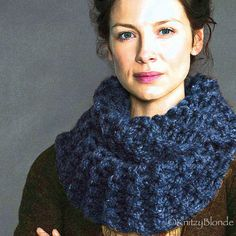 Hand Knit Claire Cowl Outlander Chunky Scarf Made by KnitzyBlonde, $60.00