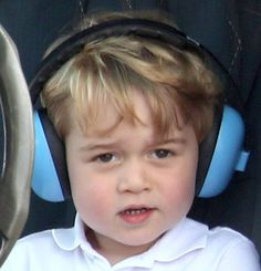 Prince George during a visit to the Royal International Air Tattoo at RAF Fairford on July 8, 2016 in Fairford, England.
