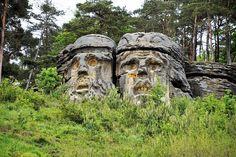 Mount Rushmore, Garden Sculpture, Nature, Outdoor, Czech Republic, Travelling, Painting, Places, Viajes