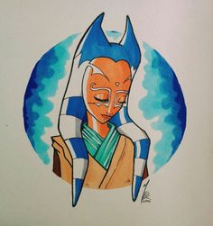 Bael'Ty #Togruta #StarWars #Cartoon #Copic #AlcoholMarker