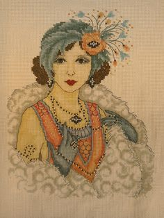 Joan Elliott 1920 lady from cross stitch crazy