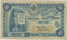 finland currency | of finland 50 markkaa banknote of 1898 russian finland money currency ...