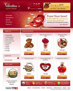 Valentine Gifts osCommerce Templates by Glenn