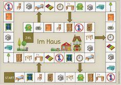 """Ideenreise: Spielfeld """"Im Haus"""" für Englisch und DAZ"""