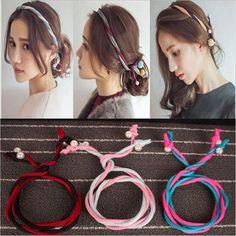Cute Solid Turban Pearl Twisted Headband 9 Colors
