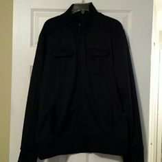 3 mens size xlarge jackets Apt 9 xlarge mens black jacket 2 front breast pockets and 2 hip pockets.  Apt 9 xlarge mens navy 1/4 zip flatback knit, new with tags. Grandslam performance xlarge mens black/gray moisture wicking 1/4 zip long sleeve, new with tags. Jackets & Coats