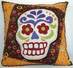 Day of the Dead pillow.