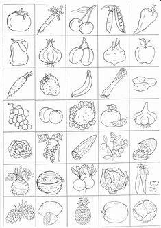 Coloring Worksheets Fruits Vegetables Beautiful Pin by andrea Shaw On Prvouka – Coloring Pages Gallery Vegetable Coloring Pages, Fruit Coloring Pages, Coloring Books, Apple Coloring, Preschool Printables, Printable Worksheets, Preschool Activities, Free Printable, Coloring Worksheets For Kindergarten