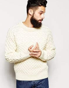 Gloverall Jumper with Cable Knit