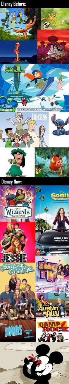 Disney then and now...