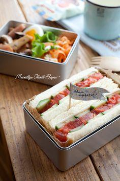 Tomato Sandwich Bento サンドイッチ弁当