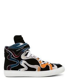 Pierre Hardy Limited Edition Multicolour Hairy Calf and Suede Sneaker - Sneakerboy
