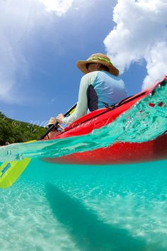 Kayaking in the crystal clear waters of St. John. Photo by Steve Simonsen.