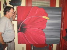 Large Hibiscus Painting