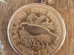 Old NZ Penny necklace Penny Tattoo, Penny Necklace, Kiwiana, Old Toys, Werewolf, Homeland, New Zealand, Coins, Stamps