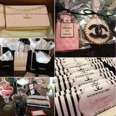 chanel themed bridal shower more