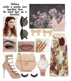 """#3) PERFECT PITCHPINK😋"" by fashion-unit ❤ liked on Polyvore featuring Chloé, Larsson & Jennings, Valentino, REGALROSE, Alexander McQueen, Michael Kors, Ray-Ban, Ted Baker, woman and wardrobe"