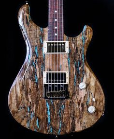 Knaggs Guitars Severn T3 Trembuck, Spalt top with Turquoise stone inlays