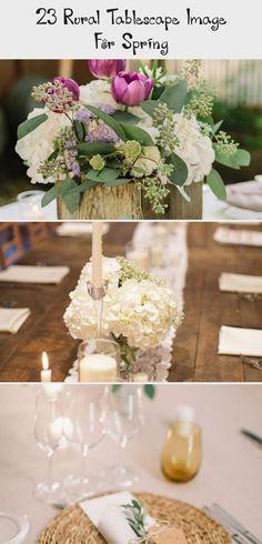 23 Rural Tablescape Image for Spring - weddingtopia #Intimategardenwedding #gardenweddingShoes #gardenweddingPhotography #gardenweddingAisle #gardenweddingDress