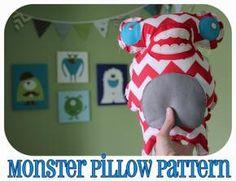 DIY Monster Pillow Tutorial=