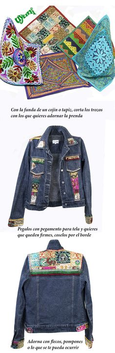 Facil idea para customizar tu ropa. #reciclar #DIY