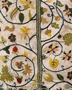 Lady's jacket with floral and fruit motifs. England, early 17th century