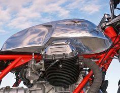 Guzzi European Motorcycles, Motorbike Parts, Custom Cafe Racer, Moto Guzzi, Scrambler, Motorbikes, Cycling, Engineering, Cafe Racers
