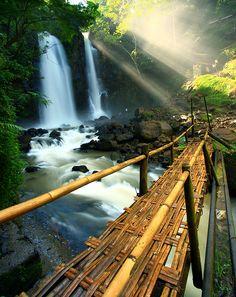 Bridge & Waterfall by e3w