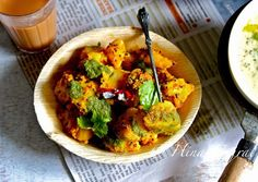 Pahadi Aloo Ke Gutke Recipe-Aloo ke Gutke is the Pahadi name for stir fried potato in spices, the word Gutke in local Kumauni dialect means pieces, if you have got a chance to travel in the hills of Uttaranchal this is the most common snack served by most of the street side tea vendors.