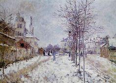 Flores y Palabras: Claude Monet: Nieve