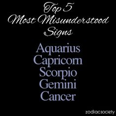 Fabulous... Cap-Aquarius cusp and Cancer moon. Three of 5 misunderstood.... Explains a few things.