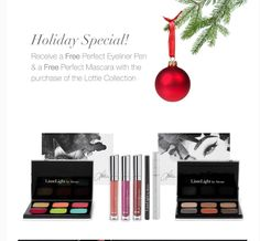 FREE perfect liner & perfect mascara thanks to @lotstar if you buy her complete collection #happyholidays www.lesliewilk.com