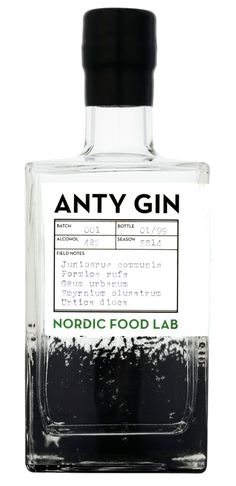 """""""Each bottle of Anty Gin will contain the essence of approximately sixty-two wood ants. """""""