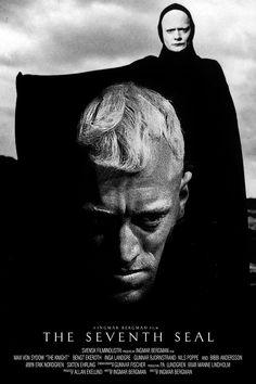 The Seventh Seal. 1957. Directed by Ingmar Bergman. Starring Max von Sydow, Bengt Ekerot, Gunnar Bjornstrand, and Bibi Andersson.