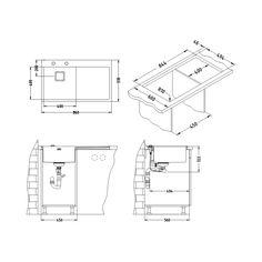 CHIUVETA DE BUCATARIE ALVEUS STYLUX 50 TEH STANGA MONTAJ LA NIVELUL BLATULUI ,POP-UP, INOX - Iak Pop Up, Floor Plans, Diagram, Popup, Floor Plan Drawing, House Floor Plans