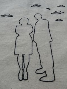 #TheXFiles The truth is out there #3 : Mulder and Scully - unique piece, imagined and #embroidered because Fox is an awesome name !