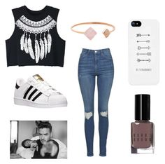 """Hanging with Liam"" by kittykitkat132 ❤ liked on Polyvore featuring WithChic, Topshop, adidas, Bobbi Brown Cosmetics and Michael Kors"